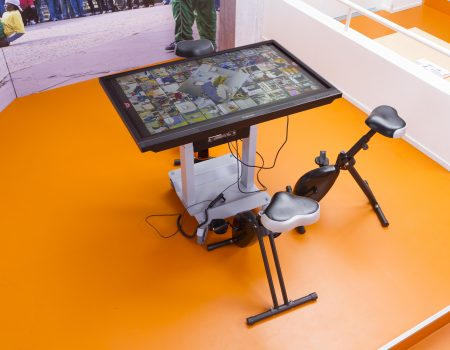 Deskbikes at an inAction table